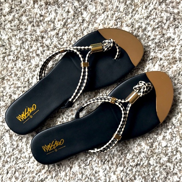 Mossimo Gold-toe Rope Sandals Size 8
